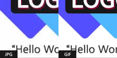 JPG 포맷보다 GIF 포맷이 더 선명한걸 알 수 있습니다.